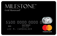 Milestone Gold Mastercard® - DeluxCards