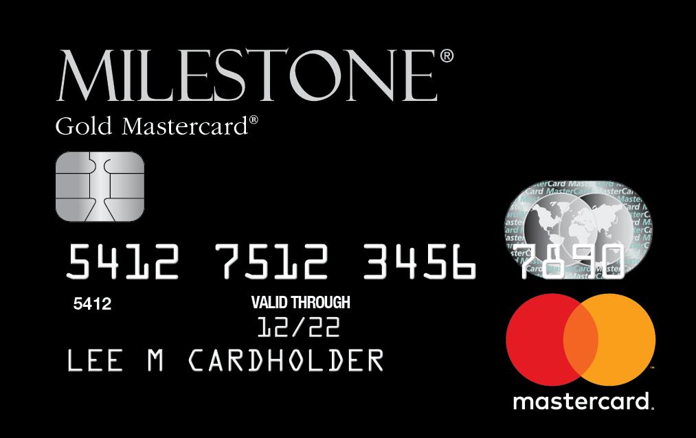 Milestone Gold Mastercard - DeluxCards.com